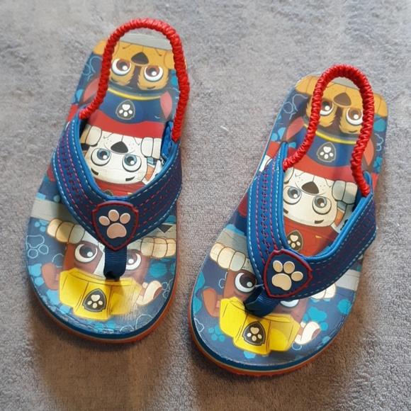f4f53425ed584 Paw Patrol Shoes   Boys Size 910 Flip Flops W Back Strap   Poshmark